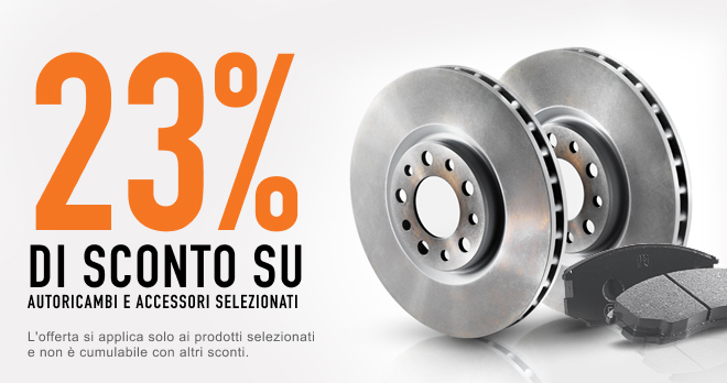 Risparmi il 23% sui pezzi di ricambio