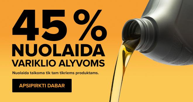 Variklio Alyvai -45%