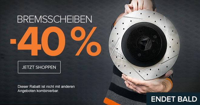 Endet bald: Bremsscheiben -40 % | Jetzt shoppen!