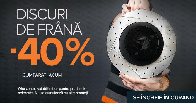 Expiră în curând: DISCURI DE FRÂNĂ -40% | Cumpără acum!