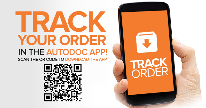 Track your order in the AUTODOC app! Scan the QR code to download the app | Track order!