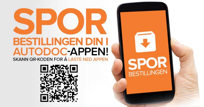 Spor bestillingen din i AUTODOC-appen! Skann QR-koden for å laste ned appen | Spor bestillingen!