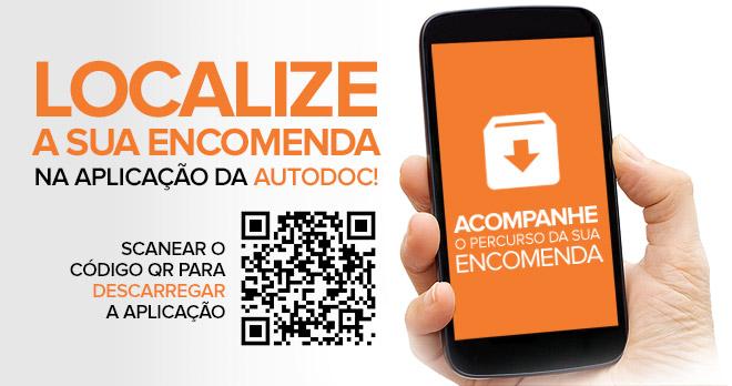 Localize a sua encomenda na aplicação da AUTODOC! Scanear o código QR para descarregar a aplicação | Acompanhe o percurso da sua encomenda!