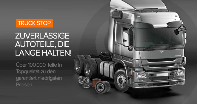 Sonderangebote und Rabatte ab 12% auf LKW-Ersatzteile