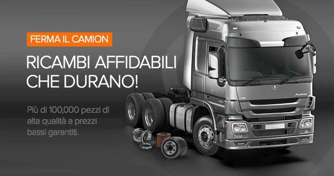 Offerte speciali e sconti dal 20% sui ricambi per camion