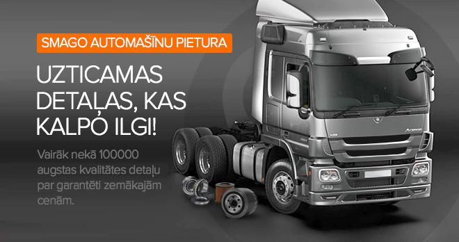 Īpaši piedāvājumi un atlaides sākot no 20% kravas automašīnu detaļām