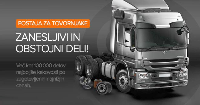 Posebne ponudbe in popusti od 10 % na dele za tovornjake