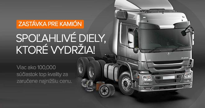 Špeciálne ponuky a zľavy od 20% na diely pre kamióny