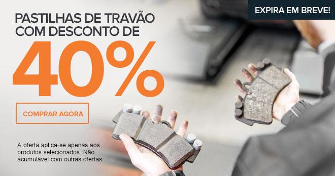 Expira em breve: Pastilhas de travão com desconto de 40% - Comprar agora!