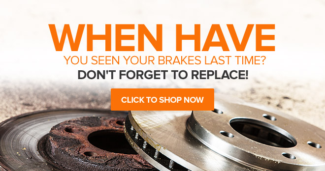When have you seen your brakes last time? Don't forget to replace them! Click to shop now