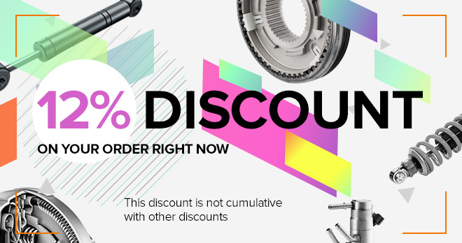 10% discount in spare parts you love so much
