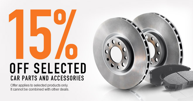 15% discount in spare parts you love so much