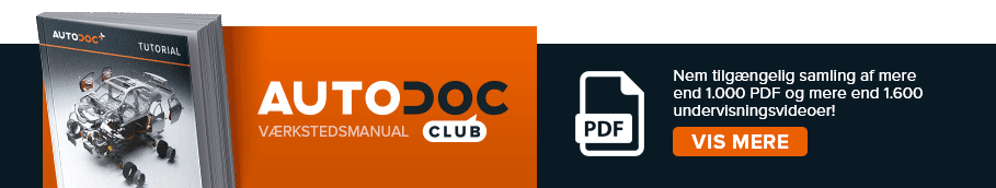 AUTODOC CLUB: Nem tilgængelig samling af mere end 1.000 PDF og mere end 1.600 undervisningsvideoer!