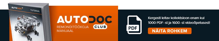 AUTODOC CLUB: Kergesti leitav kollektsioon enam kui 1000 PDF-st ja 1600-st videoõpetusest!