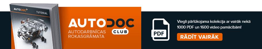 AUTODOC CLUB: Viegli pārlūkojama kolekcija ar vairāk nekā 1000 PDF un 1600 video pamācībām!