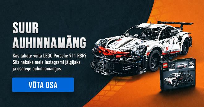 SUUR AUHINNAMÄNG! Kas tahate võita LEGO Porsche 911 RSR? Siis hakake meie Instagrami jälgijaks ja osalege auhinnamängus. Võta osa!
