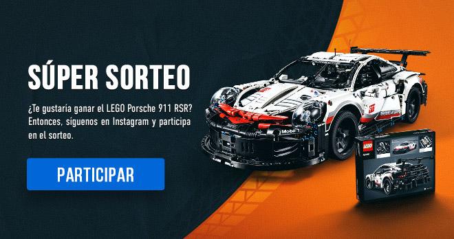 SÚPER SORTEO! ¿Te gustaría ganar el LEGO Porsche 911 RSR? Entonces, síguenos en Instagram y participa en el sorteo. PARTICIPAR !