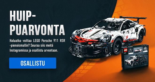 HUIPPUARVONTA! Haluatko voittaa LEGO Porsche 911 RSR -pienoismallin? Seuraa siis meitä Instagramissa ja osallistu arvontaan. Osallistu!