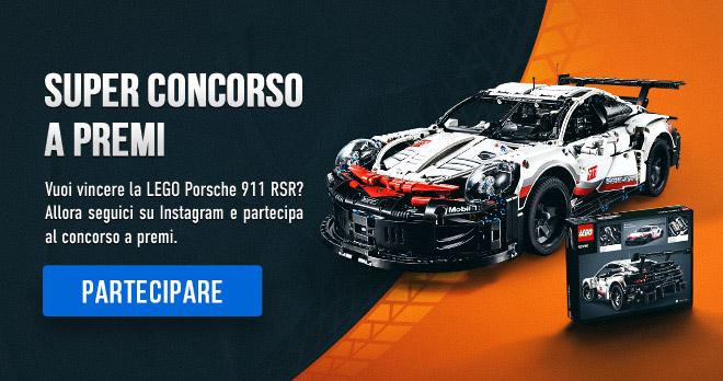 SUPER CONCORSO A PREMI! Vuoi vincere la LEGO Porsche 911 RSR? Allora seguici su Instagram e partecipa al concorso a premi. PARTECIPARE!
