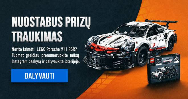 NUOSTABUS PRIZŲ TRAUKIMAS! Norite laimėti LEGO Porsche 911 RSR? Tuomet greičiau prenumeruokite mūsų Instagram paskyrą ir dalyvaukite loterijoje. Dalyvauti!