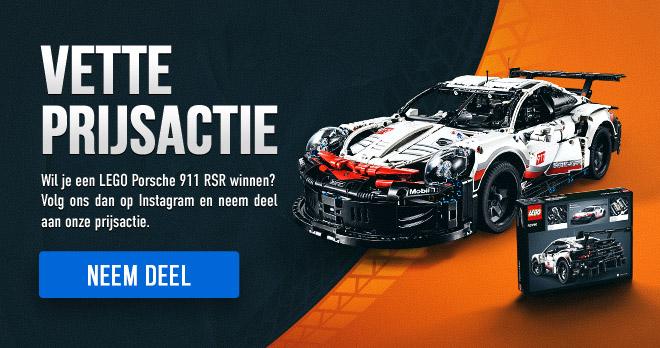 VETTE PRIJSACTIE! Wil je een LEGO Porsche 911 RSR winnen? Volg ons dan op Instagram en neem deel aan onze prijsactie. Neem deel!