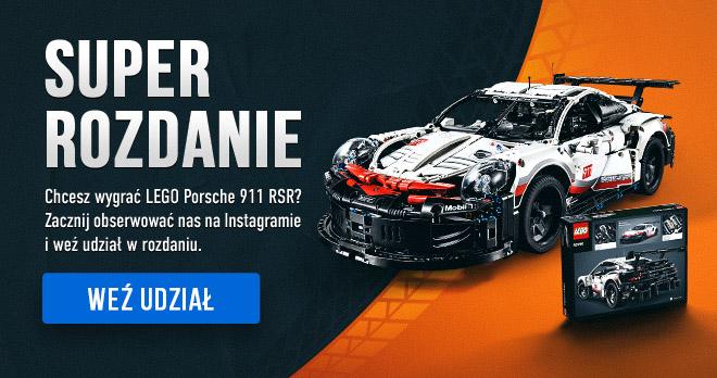 SUPER ROZDANIE! Chcesz wygrać LEGO Porsche 911 RSR? Zacznij obserwować nas na Instagramie i weź udział w rozdaniu. Weź udział!