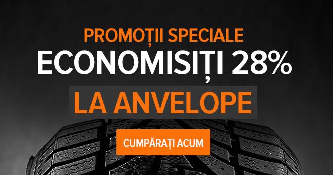 Promoții speciale! Economisiți 28% la Anvelope - Cumpărați acum