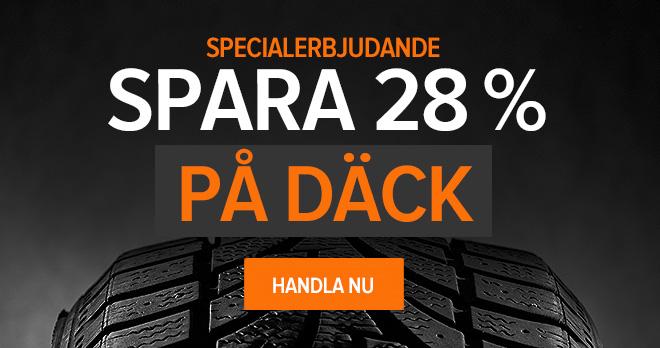 Specialerbjudande! Spara 28% på Däck - Handla nu