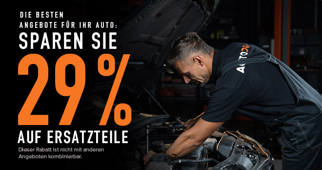 29% Rabatt auf alle Ersatzteile