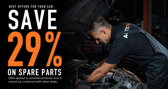 29% discount in spare parts you love so much