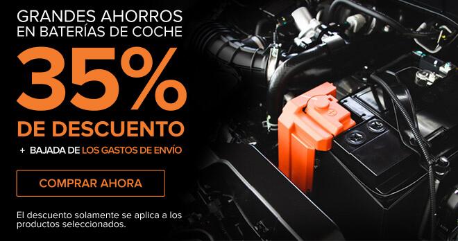 GRANDES AHORROS EN BATERÍAS DE COCHE 35% DE DESCUENTO + Bajada de los gastos de envío - Comprar ahora! El descuento solamente se aplica a los productos seleccionados.