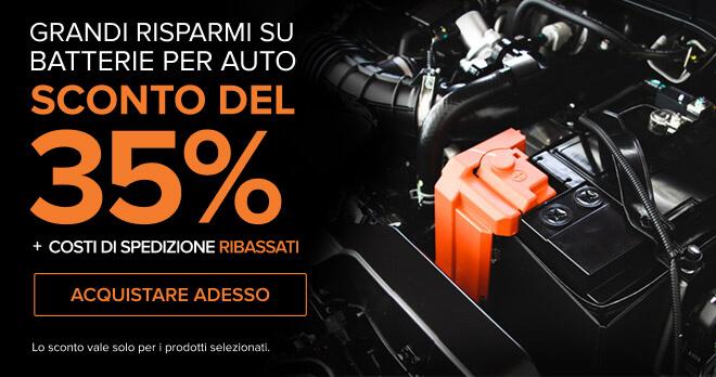 Grandi risparmi su Batterie per Auto SCONTO DEL 35% + Costi di spedizione ribassati - Acquistare adesso! Lo sconto vale solo per i prodotti selezionati.
