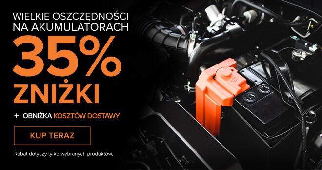 WIELKIE OSZCZĘDNOŚCI NA AKUMULATORACH 35% ZNIŻKI + Obniżka kosztów dostawy - Kup teraz! Rabat dotyczy tylko wybranych produktów.
