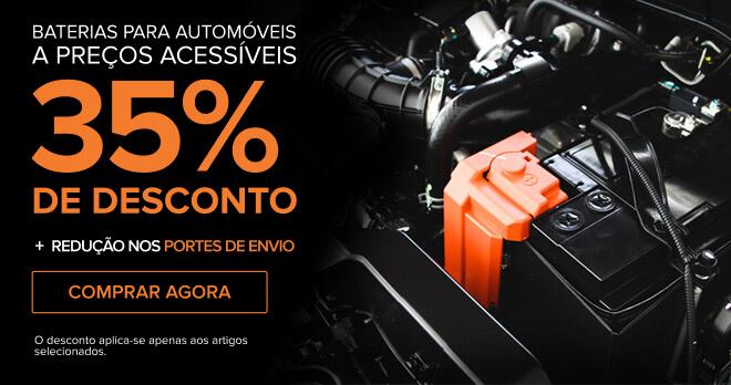 Baterias para automóveis a preços acessíveis 35% DE DESCONTO + Redução nos portes de envio - Comprar agora! O desconto aplica-se apenas aos artigos selecionados.