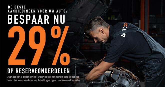 29% korting op de autoonderdelen waar u van houdt