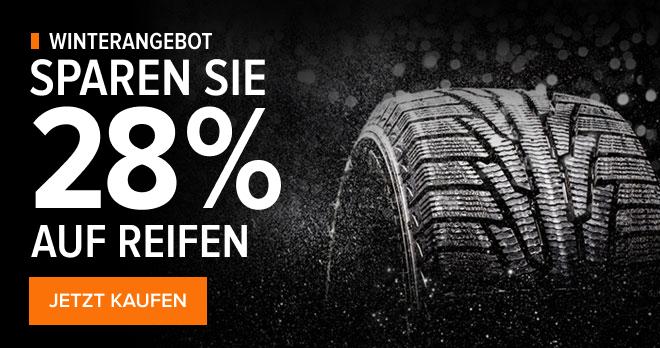 Winterangebot! Sparen Sie 28 % auf Reifen - JETZT KAUFEN!