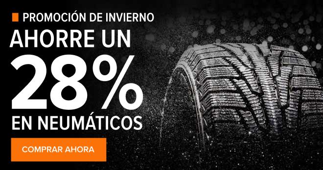 Promoción de invierno! Ahorre un 28% en neumáticos- Comprar ahora!