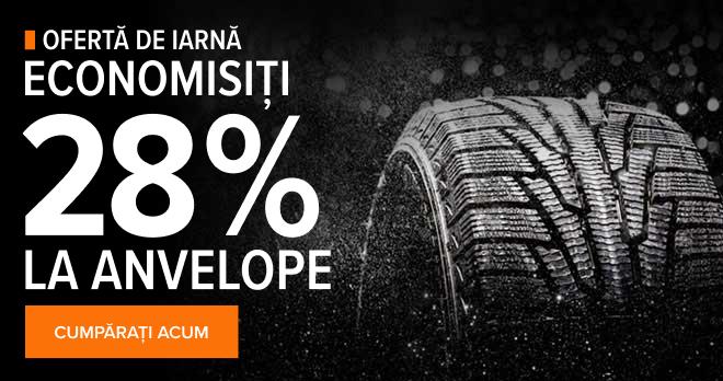 Ofertă de Iarnă! Economisiți 28% la anvelope - Cumpărați acum!