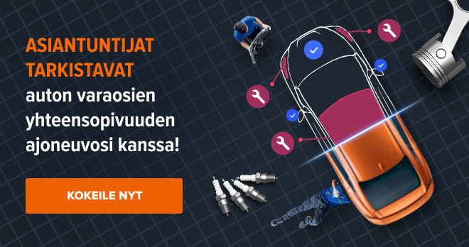 Asiantuntijat tarkistavat auton varaosien yhteensopivuuden ajoneuvosi kanssa! Kokeile nyt!