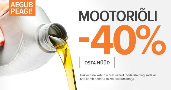 Aegub peagi: -40 % Mootoriõli! Osta nüüd!