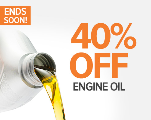 ENDS SOON: 40% OFF Engine Oil! Shop now!