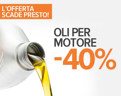 L'offerta scade presto: -40 % Olio Motore! Acquistare adesso!