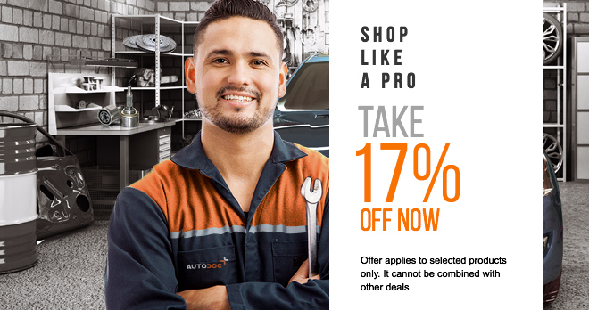 17% discount in spare parts you love so much