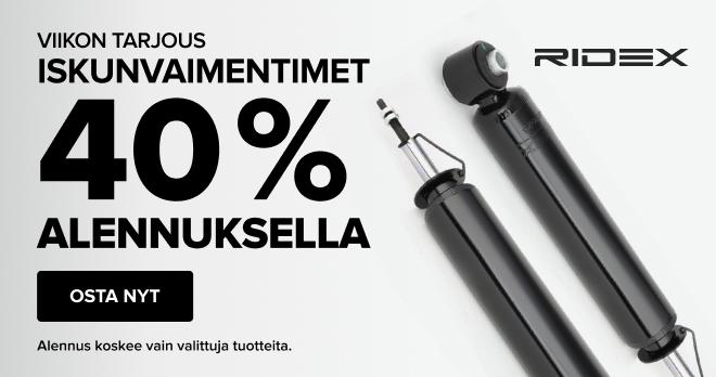 Iskunvaimentimet Ridex 40 % ALENNUKSELLA