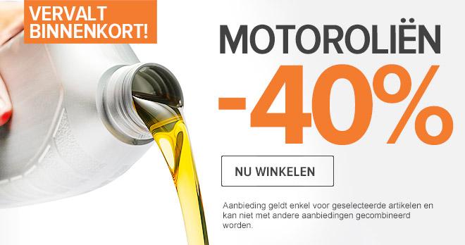 Vervalt binnenkort: -40 % Motorolie! Nu winkelen!