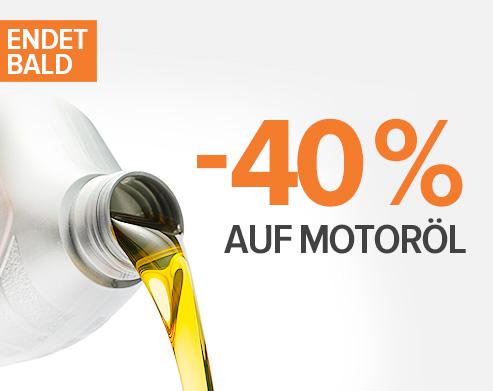 Endet bald: -40 % Motoröl! Jetzt shoppen!
