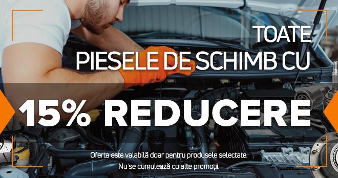 15% de reducere la piesele de schimb care va plăc atât de mult