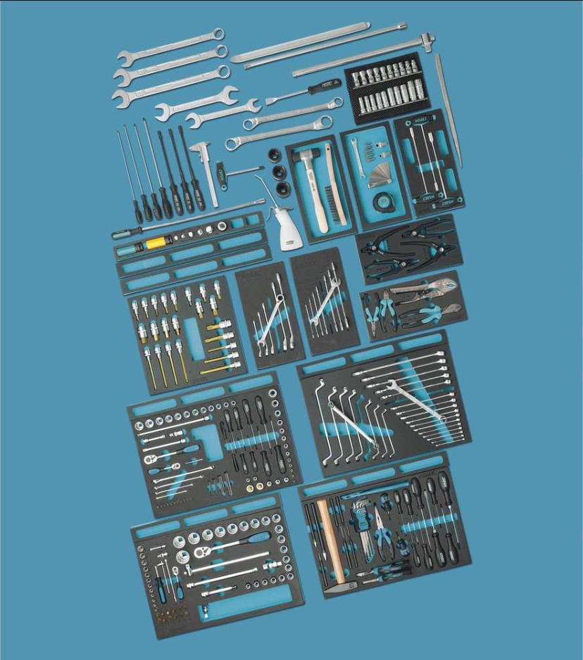 Hogert Technik Kit attrezzi HT1R416 Set attrezzi,Kit chiavi a bussola,Kit chiavi,Kit utensili,Kit attrezz