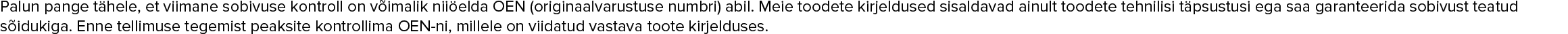 ELRING 021 109 349 A, 021.109.349.A, 021 109 349 A, 021 109 349 A, 021 109 349 A Tihend, tõukur